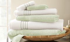 Contrast Stripe Collection 6 piece towel SET - Jade