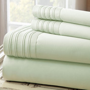 1000 Thread Count Pleated Hem Sheet Set - Jade