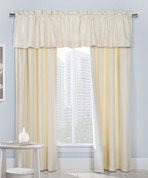 Contrail Insulated Rod Pocket Curtain pair with valance - Ivory