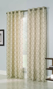 Clover Grommet Top Curtain Panel - Natural