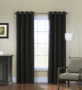 Navar Total Blackout Grommet Top Curtain Panel - Black