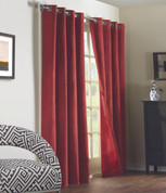 Navar Total Blackout Grommet Top Curtain Panel - Burgundy