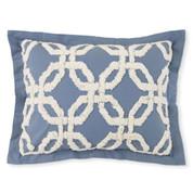 Holden Chenille Pillow Sham - Harbor Blue