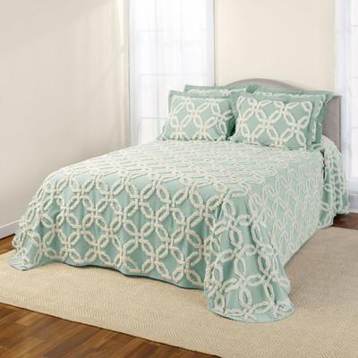 Holden Chenille Bedspread - Mist Green