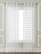Amelia Macrame Grommet Top Curtain Panel - White