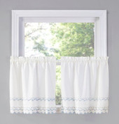 "Beverly 24"" kitchen curtain tier (pr)"