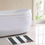 Monte Carlo Bath Rug - Grey