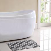 Trento Bath Rug - Gray