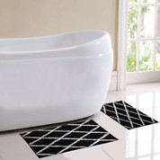 St Tropez Bath Rug 2 piece SET - Black