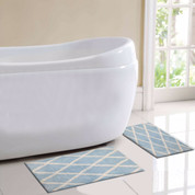St Tropez Bath Rug 2 piece SET - Blue