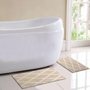 St Tropez Bath Rug 2 piece SET - Beige