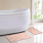 St Tropez Bath Rug 2 piece SET - Coral