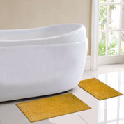 Milan Bath Rug 2 piece SET - Gold