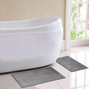 Milan Bath Rug 2 piece SET - Grey