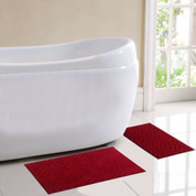 Milan Bath Rug 2 piece SET - Wine