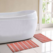 Madrid Bath Rug 2 piece SET - Coral