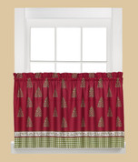 "Hometown Holiday Christmas kitchen curtain 36"" tier"