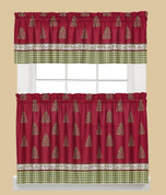 Hometown Holiday Christmas Kitchen Curtain