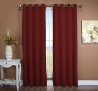 Tacoma Double Blackout Grommet Top Curtain Panel - Floral Rose (2 panels shown)
