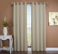 Tacoma Double Blackout Grommet Top Curtain Panel - Parchment ( 2 panels shown)