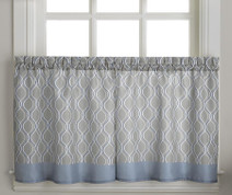 "Morocco 36"" kitchen curtain tier - Grey from CHF"