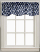 Morocco kitchen curtain valance - Navy from CHF