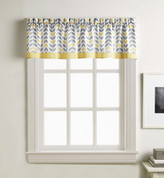 Savannah kitchen curtain valance - Gold from CHF