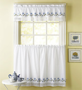 Leighton Kitchen Curtain - Blue from CHF