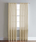 Lyric Ogee Printed Rod Pocket Curtain Panel - Antique from CHF