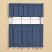 Austin Kitchen Curtain - Denim Blue from Saturday Knight