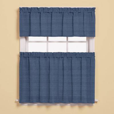 Austin Kitchen Curtain - Denim Blue from Saturday Knight
