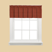 Austin Kitchen Curtain Valance - Fire