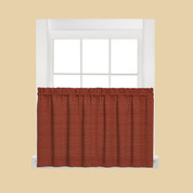 "Austin 36"" Kitchen Curtain Tier - Fire"