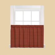 """Austin 36"""" Kitchen Curtain Tier - Fire"""