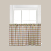 "Dexter Plaid 24"" Kitchen Curtain Tier - Green"