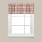 Dexter Plaid Kitchen Curtain Valance - Red