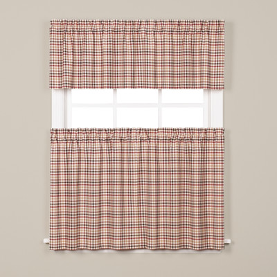 Dexter Kitchen Curtain - Red from Saturday Knight