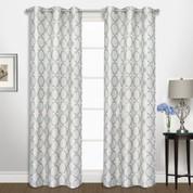 Georgia Grommet Top Curtain pair - Blue