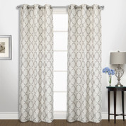 Georgia Grommet Top Curtain pair - Platinum