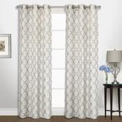 Georgia Grommet Top Curtain pair - Platinum