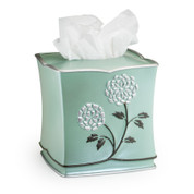 Avanti Tissue Box Cover - Aqua from Popular Bath