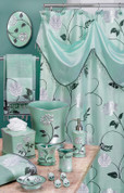 Avanti Shower Curtain & Bathroom Accessories - Aqua from Popular Bath