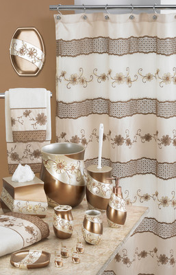 Veronica Shower Curtain & Bathroom Accessories from Popular Bath