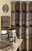 Safari Stripes Shower Curtain & Bathroom Accessories from Popular Bath