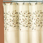 Aubury Beige Shower Curtain (hooks not included) from Popular Bath