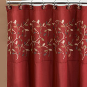 Aubury Burgundy Shower Curtain (hooks not included) from Popular Bath