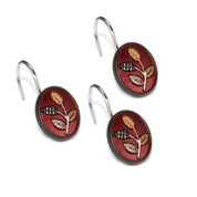 Aubury Shower Curtain Hooks - Burgundy (set of 12) from Popular Bath