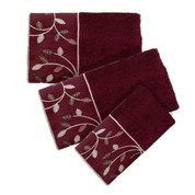 Aubury burgundy 3 piece towel SET  from Popular Bath