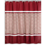 Harmony Burgundy Shower Curtain (hooks not included) from Popular Bath