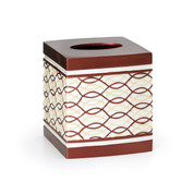 Harmony Tissue Box - Burgundy from Popular Bath
